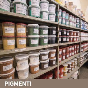 Phase Italia - Soluzioni per il restauro - Vista contenitori pigmenti Phase Firenze