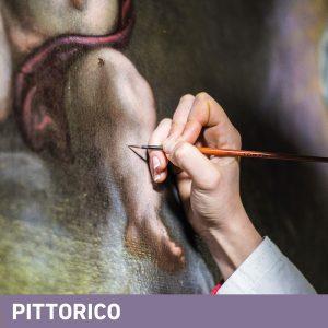 Phase Italia - Soluzioni per il restauro - Vista lavoro di restauro su dipinto con pennello