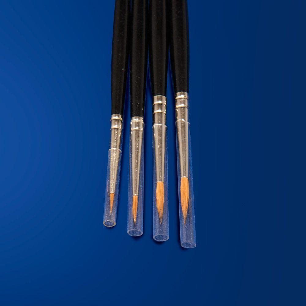 Phase vendita prodotti per restauro Firenze - pennello pelo di martora Kolinsky ghiera argentata-attrezzature pennelli resaturo pittorico Da Vinci serie 1500J - dettaglio