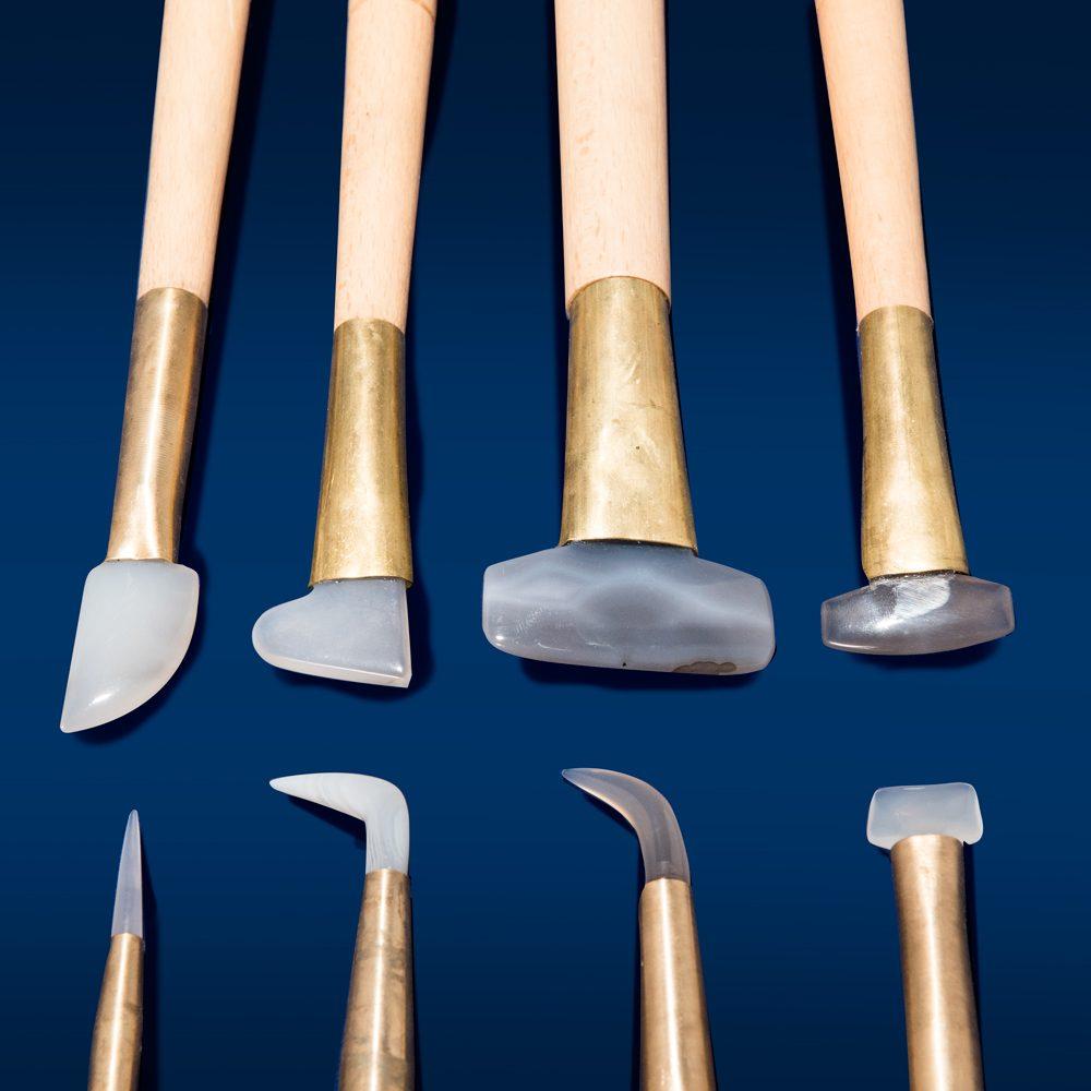 Phase vendita prodotti restauro Firenze - Brunitoi in pietra d'agata - Attrezzature per il legno e doratura, Attrezzature per il restauro e di laboratorio-dettaglio