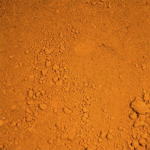Phase prodotti restauro Firenze-pigmenti phase_0008_ossido arancione - polvere- Pigmenti per il restauro, Terre e pigmenti minerali puri