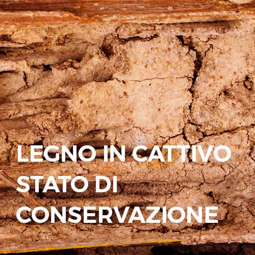 Phase Italia - Soluzioni per il restauro del legno - Legno in cattivo stato di conservazione
