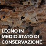 Phase Italia - Soluzioni per il restauro - Trattamento del legno in medio stato di conservazione - dettaglio