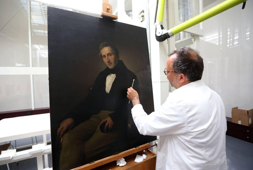 Phase Italia Blog - Alla Pinacoteca di Brera va in scena il restauro del Manzoni di Hayez - Vista tela