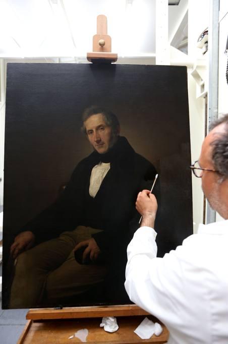 Phase Italia Blog - Alla Pinacoteca di Brera va in scena il restauro del Manzoni di Hayez - Vista tela dettaglio 2