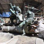 Proseguono i lavori di restauro della Fontana del Nettuno