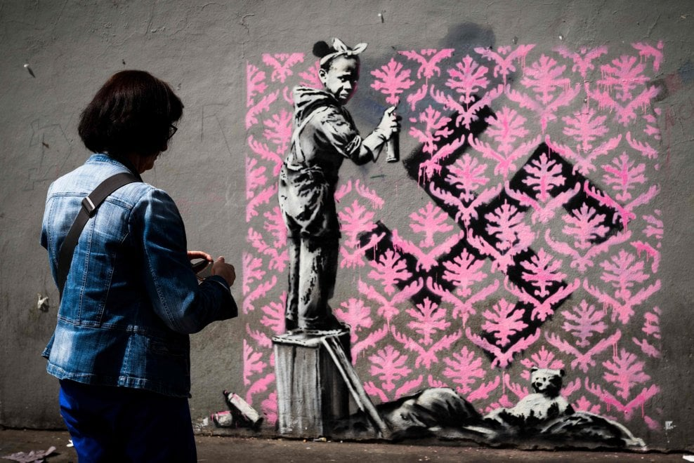 "Phase Italia Blog - A Firenze Bansky in mostra per ""This is not a photo opportunity"" - Murales di Bansky per i migranti"