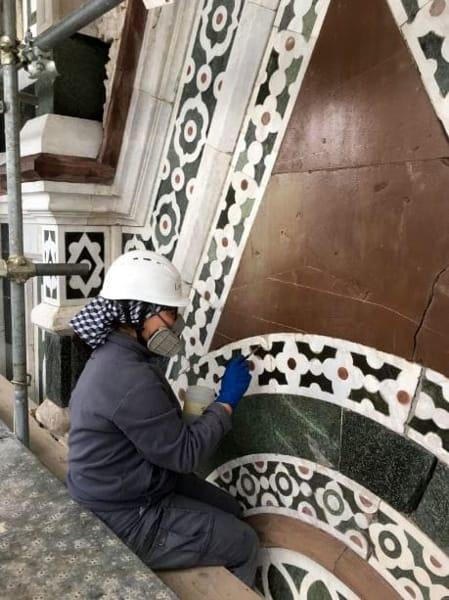 Phase Italia - Blog - Terminato il restauro di una parte della facciata del Duomo di Firenze operazioni di restauro 3