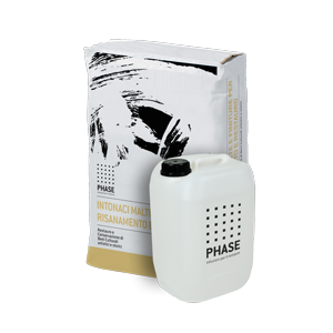 Malte di calce naturale Phase Italia - Soluzioni per il restauro - Sacco Chiaro con contenitore