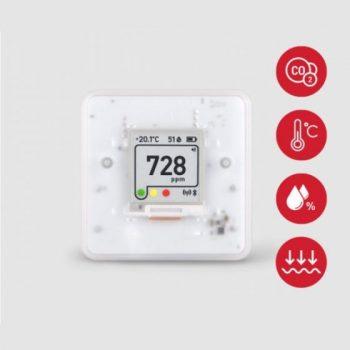 Registratore di dati Bluetooth CO2 - Monitoraggio della concentrazione di CO2 nelle scuole, negli uffici, nei musei ed a casa.