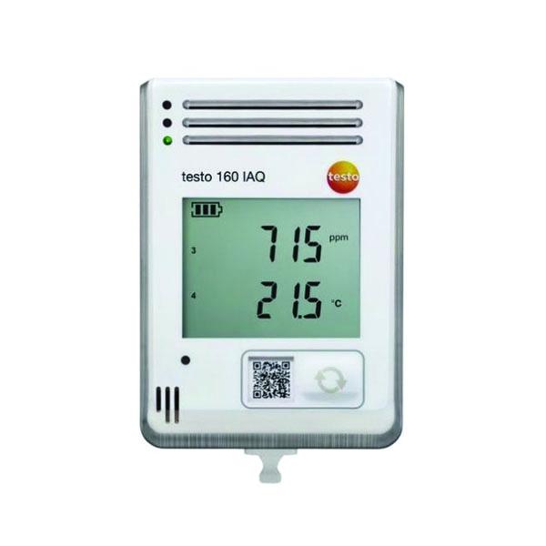 Data logger WiFi testo 160 IAQ (WLAN) - Monitoraggio di temperatura, umidità, CO2 e pressione atmosferica - foto 1